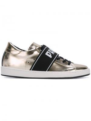 Кроссовки с контрастной лямкой Paris Philippe Model. Цвет: металлический