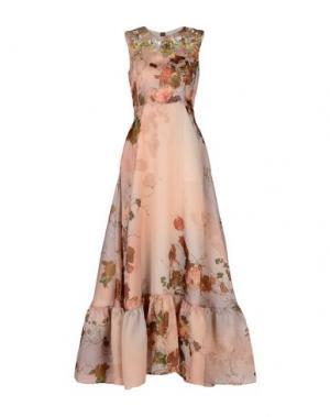 Длинное платье ANTONIO MARRAS. Цвет: телесный