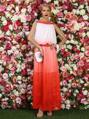 Платье Bezko. Цвет: красный, белый