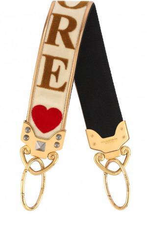 Ремень для сумки с вышивкой Dolce & Gabbana. Цвет: бежевый