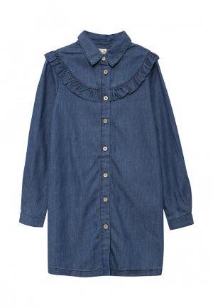 Платье джинсовое Sela. Цвет: синий