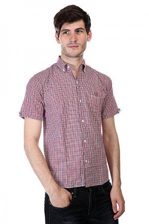 Рубашка в клетку  Ganio Red/Blue Independent. Цвет: белый,синий,красный