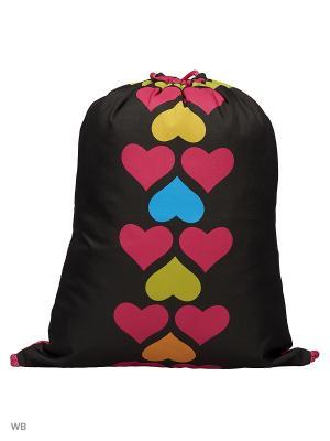 Мешок для обуви СЕРДЦА Centrum. Цвет: черный, голубой, красный, оранжевый, желтый