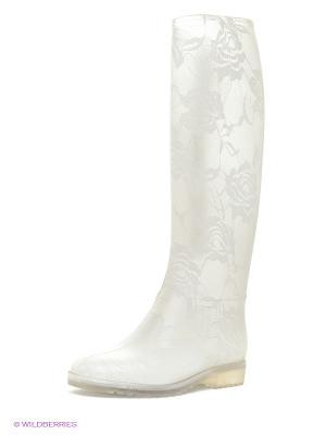 Резиновые сапоги KEDDO. Цвет: белый