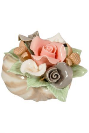 Фигурка Цветочный сюрприз Русские подарки. Цвет: бежевый, розовый, зеленый