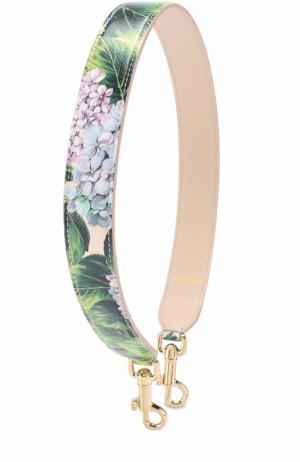 Кожаный ремень для сумки с цветочным принтом Dolce & Gabbana. Цвет: кремовый