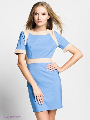 Платье Verezo. Цвет: голубой, бежевый