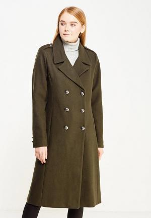 Пальто Only. Цвет: хаки