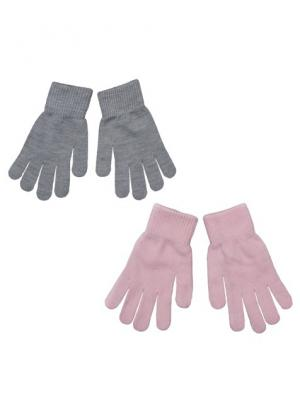 Перчатки S`Cool. Цвет: серый, розовый
