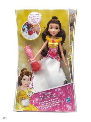 Модная кукла Принцесса в юбке с проявляющимся принтом ассорт. Disney Princess. Цвет: желтый