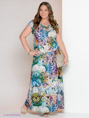 Платье МадаМ Т. Цвет: зеленый, голубой, фиолетовый