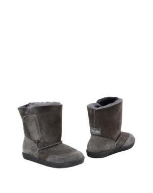 Полусапоги и высокие ботинки FALCOTTO. Цвет: стальной серый