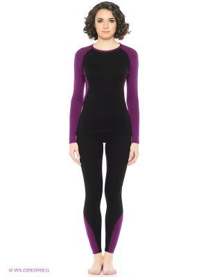 Термобелье-панталоны для женщин Guahoo Outdoor Heavy. Цвет: черный