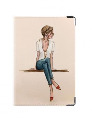 Обложка для паспорта Ladies Tina Bolotina. Цвет: бледно-розовый