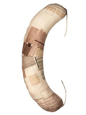 Подушка для беременных и кормящих Здоровье комфорт. Цвет: коричневый, темно-коричневый