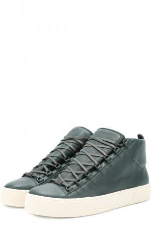 Ботинки спортивные Balenciaga. Цвет: зеленый