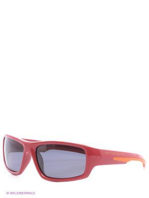Очки солнцезащитные BB 596S 02 United Colors of Benetton. Цвет: красный