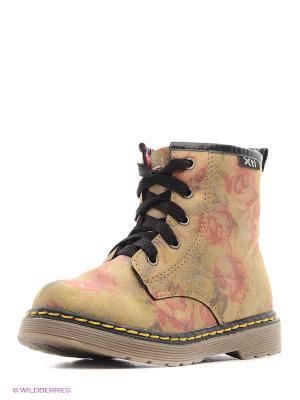 Ботинки XTI. Цвет: темно-бежевый, бледно-розовый