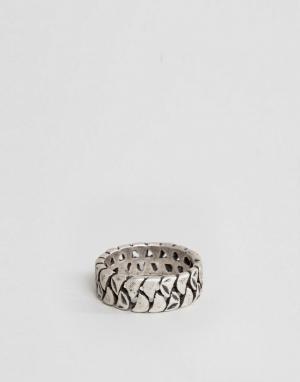 Seven London Серебристое кольцо. Цвет: серебряный
