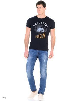 Мужская футболка LTB. Цвет: синий