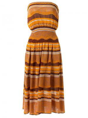 Strapless midi dress Gig. Цвет: коричневый