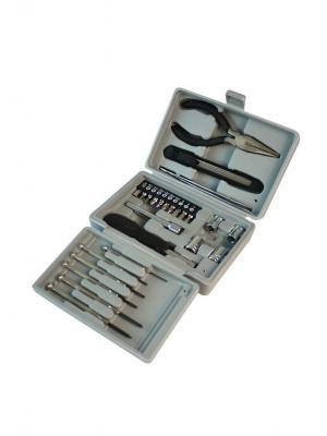 Набор инструментов из  26 предметов в пластиковом кейсе Stinger. Цвет: черный, серый, серебристый