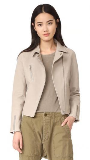 Байкерская куртка Lou Doma. Цвет: серый туман