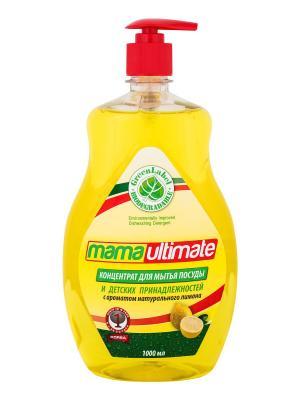 Концентрат для мытья посуды и детских принадлежностей MamaUltimate  Лимон Mama Ultimate. Цвет: желтый
