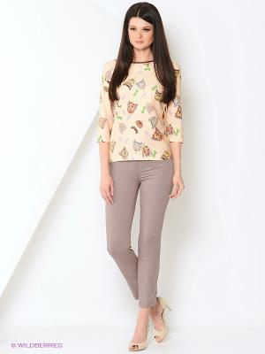 Блуза PRIZZARO. Цвет: бежевый, зеленый, коричневый