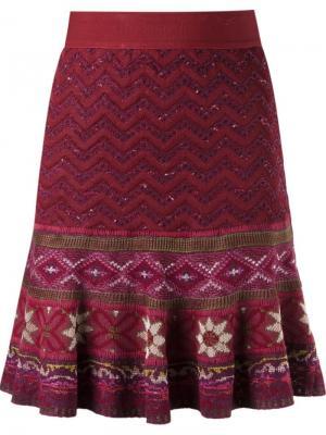 Tricot flared skirt Cecilia Prado. Цвет: красный