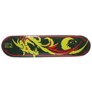 Дека для скейтборда  S5 Dragon 31.75 x 7.625 (19.4 см) Blast. Цвет: зеленый,желтый,красный