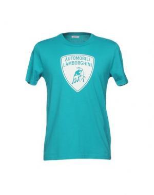 Футболка AUTOMOBILI LAMBORGHINI. Цвет: бирюзовый
