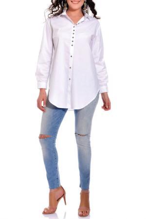 Рубашка VALERIA FRATTA. Цвет: белый