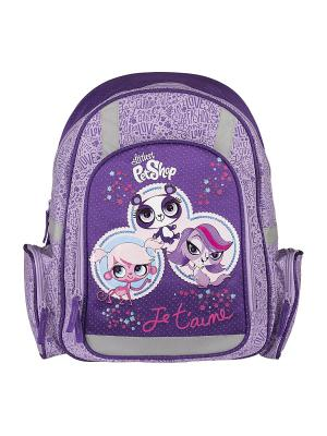 Рюкзак с эргономичной EVA-спинкой.  Littlest Pet Shop. Цвет: фиолетовый