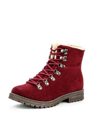 Ботинки Instreet. Цвет: бордовый