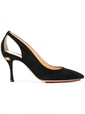 Туфли-лодочки с вырезными деталями Charlotte Olympia. Цвет: чёрный