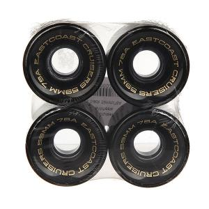 Колеса для скейтборда лонгборда  Shelby Black 78A 59 mm Eastcoast. Цвет: черный
