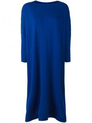 Платье с вырезом-лодочка Daniela Gregis. Цвет: синий