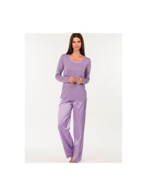 Пижама Kom. Цвет: фиолетовый