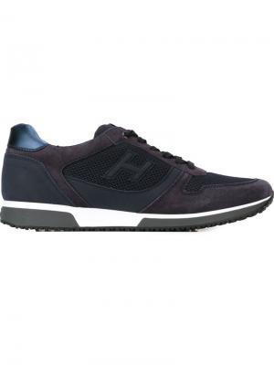 Кроссовки с сетчатыми панелями Hogan. Цвет: синий