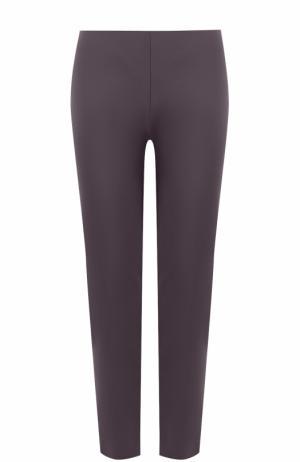 Хлопковые брюки прямого кроя M Missoni. Цвет: фиолетовый