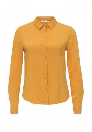 Рубашка oodji. Цвет: коричневый