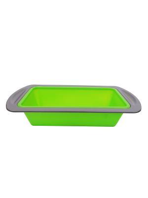 Форма для выпечки силикон 8,5*20*4 см Peterhof. Цвет: зеленый