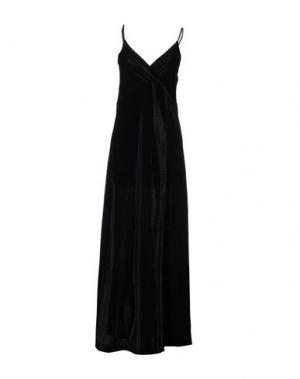 Длинное платье FEDERICA TOSI. Цвет: черный