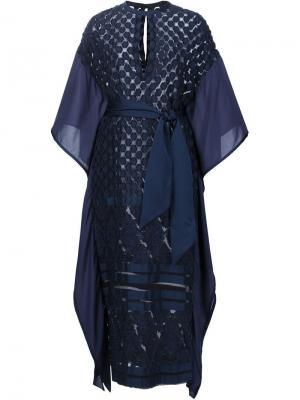 Платье-кимоно с поясом Mame. Цвет: синий