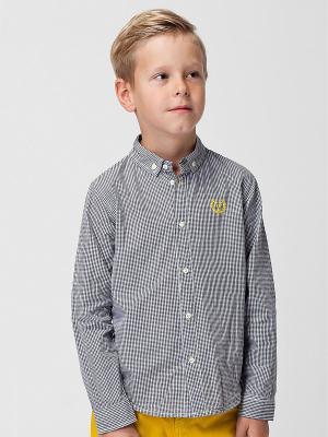 Рубашка Vilatte. Цвет: серый, белый