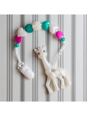 Игрушки-подвески Краски лета. Цвет: зеленый, белый, малиновый