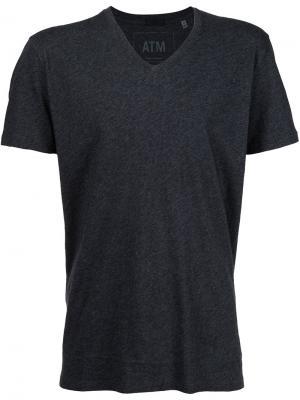 Классическая футболка с V-образным вырезом Atm Anthony Thomas Melillo. Цвет: серый