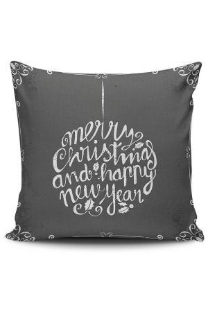 Декоративная подушка CHRISTMAS - DECORATION. Цвет: черный