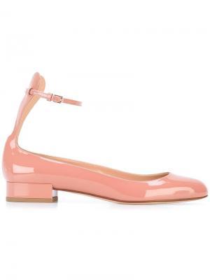 Балетки с ремешком на щиколотке Francesco Russo. Цвет: розовый и фиолетовый